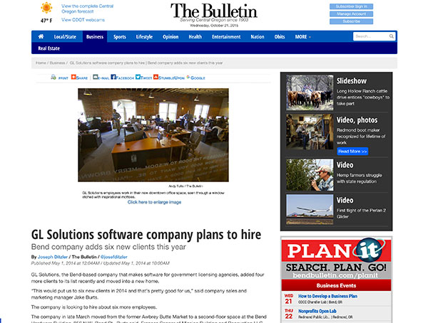 GL Solutions software company plans to hire